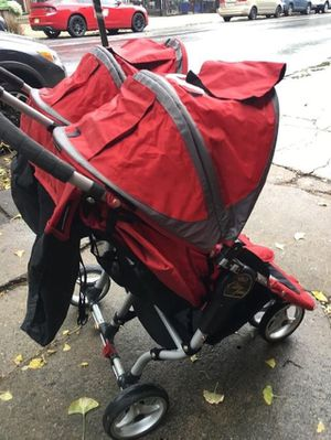 Used, City mini double stroller for sale  red for Sale
