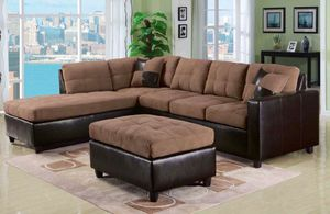 New Milano brown or espresso sectional sofa couch for Sale in Miami, FL