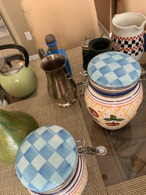 9 items jars, containers ect for Sale in Port St. Lucie, FL