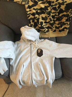 BAPE X Champion Full Zip Hoodie Gray for Sale in Washington, DC