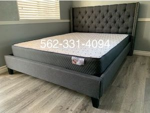 ♦️New Gray Full Bed w Mattress Included♦️ for Sale in Fresno, CA