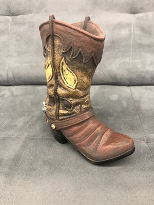 Brown Cowboy Boot Home Decoration for Sale in Orlando, FL