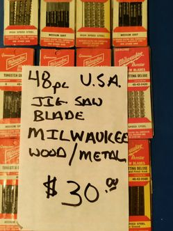 48pc. Millaukee Jig Saw Blades for Sale in Covington,  WA