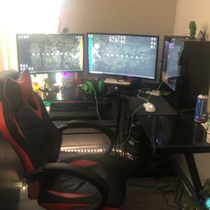 Gaming PC With Desk And Chair for Sale in Bedford, TX