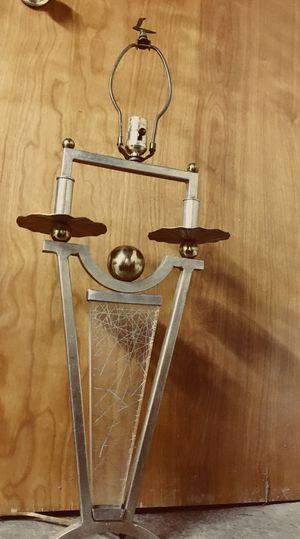 Heavy Bronze & gold lamp w/ glass for Sale in Philadelphia, PA