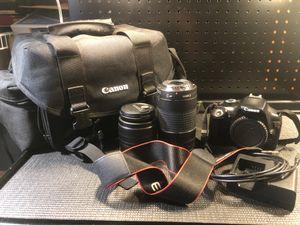 Canon EOS Rebel T3 Digital Camera + 2 Lens for Sale in Sacramento, CA