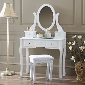 NEW Makeup Desk Vanity Table with Mirror for Women Bedroom Dressing Study Table for Sale in Las Vegas, NV