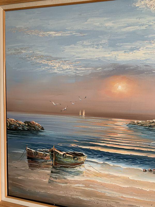 Original Oil Beach Painting