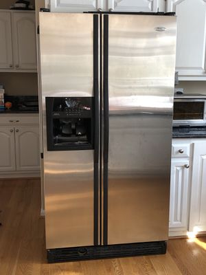 Whirlpool stainless steel fridge in perfect condition for Sale in Herndon, VA