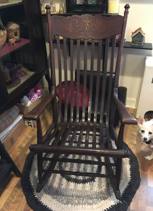 Pressed back antique rocking chair for Sale in Selinsgrove, PA