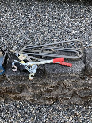 Come Along winch and Saddle wall rack Free for Sale in Redmond, WA