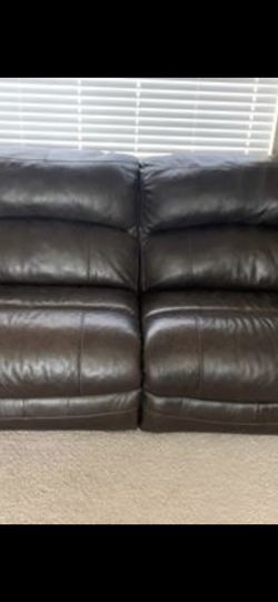 Ashley's Furniture Leather Couch for Sale in Puyallup,  WA