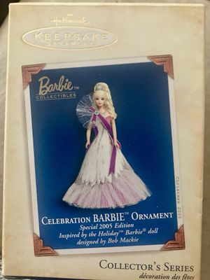 Hallmark Keepsake 2005 Celebration Barbie Ornament by Bob Mackie for Sale in Saint CLR SHORES, MI