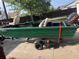 Nice boat with 2 motors and brand new trailer. for Sale in Port Huron, MI