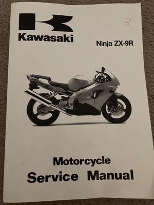 Kawasaki Ninja ZX-9R Service Manual for Sale in Phoenix, AZ