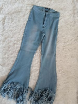 Frayed fringed bell bottom flare pants for Sale in Chicago, IL