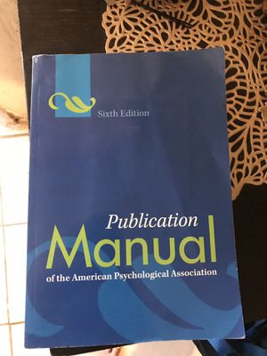 Publication manual of the American psychological association (6th edition) for Sale in San Diego, CA