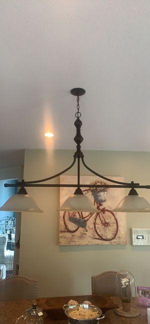 Three light Island chandelier for Sale in Hampden, MA