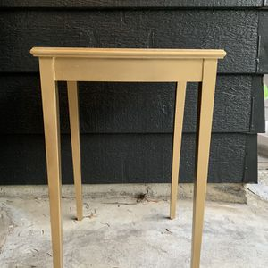 Gold Wooden End Table for Sale in Portland, OR