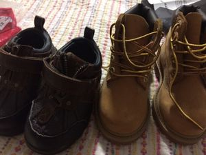 Toddler timberland boots size 6 and polo shoes size 6 for Sale in Pembroke Pines, FL