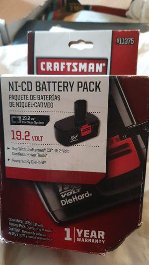 NIB Craftsman 19.2V Battery Pack for Sale in Spokane, WA