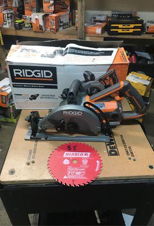 RIDGID THRUCOOL 15 Amp 7-1/4 in. Worm Drive Circular Saw for Sale in Fontana, CA