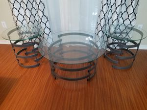 Glass Coffee Table set (including 2 End Tables) Barley used. Like new!! for Sale in Plant City, FL
