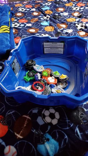 It has 20 to 15 beyblabe and a battle arena and a chase for Sale in Columbus, OH