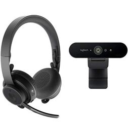 Logitech Pro Personal Video Collaboration Kit (Zone Wireless + Brio Webcam) for Sale in Gilbert,  AZ