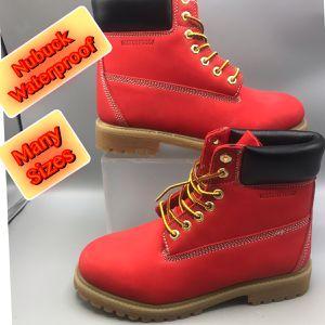 Waterproof Cherry Red Nubuck Men's Work Boots. for Sale in Tinton Falls, NJ