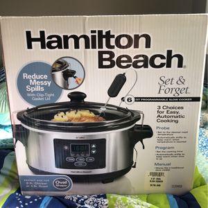 (New) Programmable Slow Cooker - Hamilton Beach for Sale in Wheaton, IL