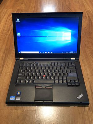 Lenovo ThinkPad T420 core i5-2nd gen NVIDIA NVS Graphics 4GB Ram 250GB Hard Drive 15 inch Windows 10 Pro Laptop with charger in Excellent Working con for Sale in Aurora, IL