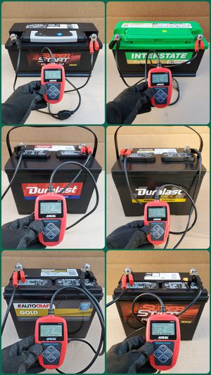 USED AND SEMI NEW CAR BATTERIES FOR SALE. SAVE $$ ON AUTO PARTS STORE BRAND BATTERIES. Baterias Para Carro Usadas y Semi Nuevas for Sale in South Gate, CA