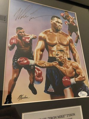 Mike Tyson Hand Signed JSA Authenticated Lithograph Framed & Matted for Sale in New York, NY