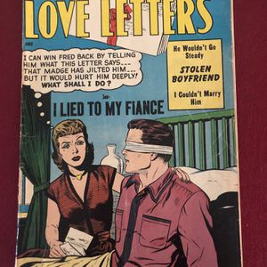 19 £.54 love letters comic book August No. 35 for Sale in Harrison, NY
