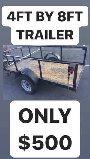 Black Utility Trailer 2 Wheel With Hitch for Sale in Upland, CA