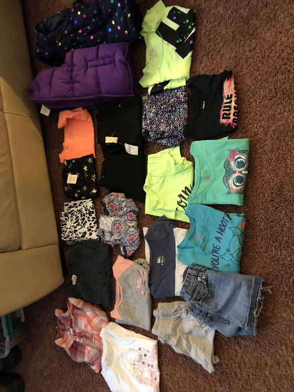 Large lot of girls size 8 name brand clothes