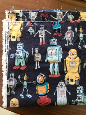 Robot Flannel Fabric Material Navy Blue for Sale in San Diego, CA