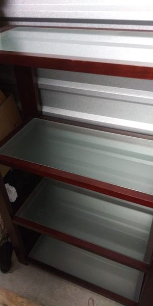 Wall Office Bookcase 4-Frosted Shelves for Sale in Fort Worth, TX