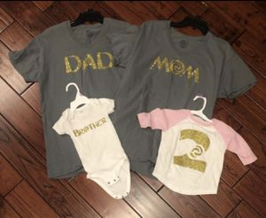 Moana shirts- Dad and Mom size Large; sister 2T and brother 12M for Sale in Smyrna, TN
