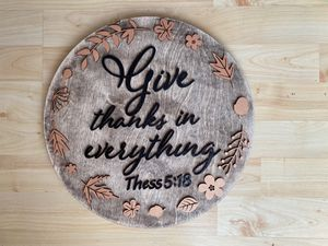 Thanksgiving wood decore 14in for Sale in Chicago, IL