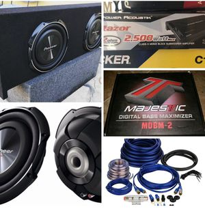 Brand new bass package installation included for Sale in Phoenix, AZ