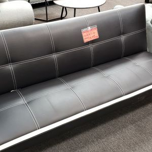 Black & White Faux Leather Sofa Bed for Sale in Westminster, CA