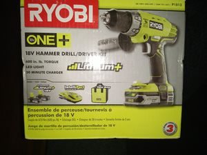 Ryobi 18v hammer/ drill driver kit for Sale in Tacoma, WA