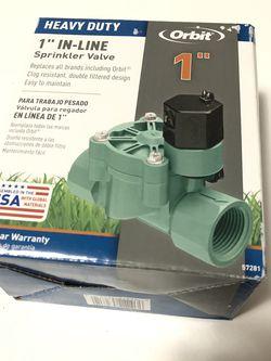 Orbit 57281 1-Inch FPT Heavy-Duty In-line Sprinkler Valve... NEW for Sale in Edinburgh,  IN