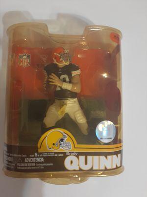 NFL BRADY QUINN #10 CLEVELAND BROWNS McFarlane Action Figure DEBUT Series 16 NIB for Sale in St. Petersburg, FL