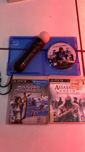 PS3 move stick and game, and another ps3 game for Sale in Fort Lauderdale, FL