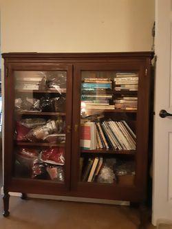 Mahogany Glass Door Bookshelves for Sale in La Center,  WA