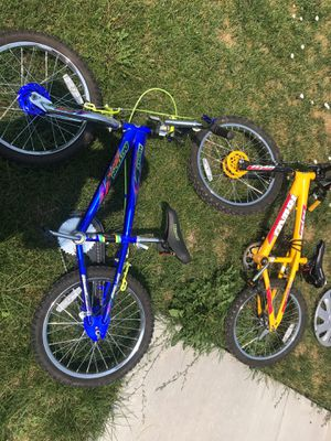 Two kids peddle-bikes. All tires flat. Breaks work on the blue one. Peddle breaks only work on the yellow. $40 each for Sale in West Valley City, UT