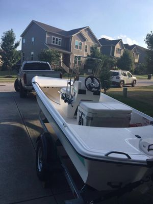 Mako 16ft skiff with 40hp mercury done five hours for Sale in Apex, NC